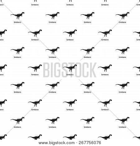 Carnotaurus Pattern Seamless Repeat Geometric For Any Web Design