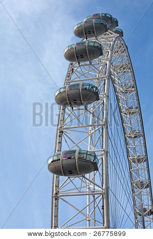 London eye: New London Landmark against blue sky
