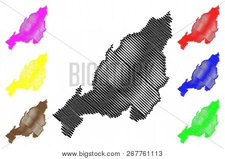 Nagaland (states And Union Territories Of India, Federated States, Republic Of India) Map Vector Ill