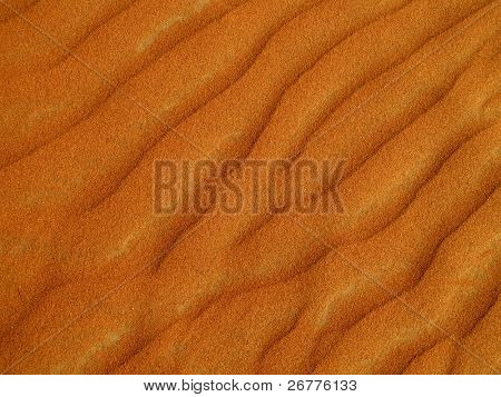 Red sand desert close up