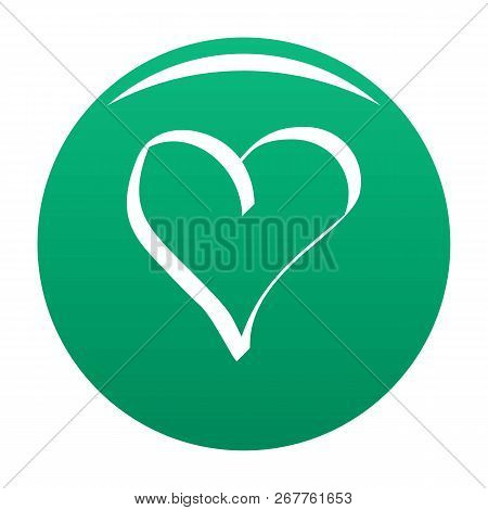 Best Heart Icon. Simple Illustration Of Best Heart Icon For Any Design Green