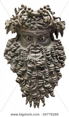 Dionysus mask (Greek god of vine) poster