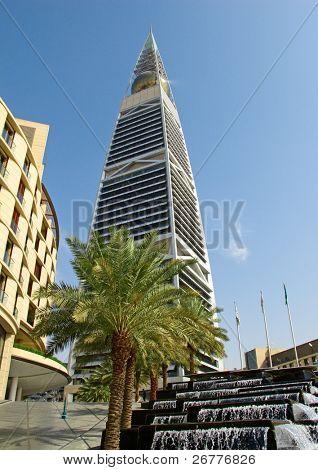 RIYADH - DECEMBER 22: Al Faisaliah tower on December 22, 2009 in Riyadh, Saudi Arabia. Al Faisaliah is the most distinctive skyscraper in Saudi Arabia build by Bin Laden family
