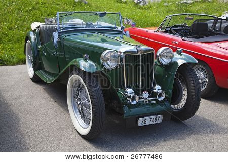 SCHWAEGALP - JUNE 27: Old racing MG car on the 7th International