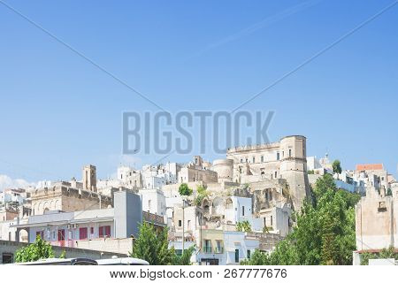 Massafra, Apulia, Italy - Skyline Of The Middle Aged Village In Italy