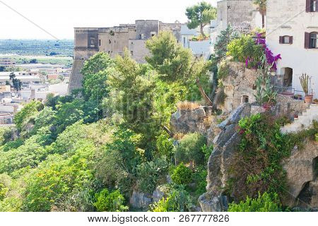 Massafra, Apulia, Italy - Middle Aged Stairways Leading Down The Hills Of Massafra