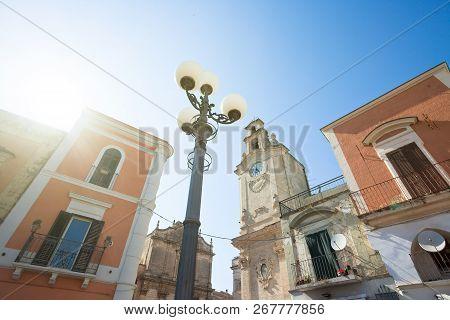 Massafra, Apulia, Italy - The Sun Illuminating The Historic Church Of Massafra