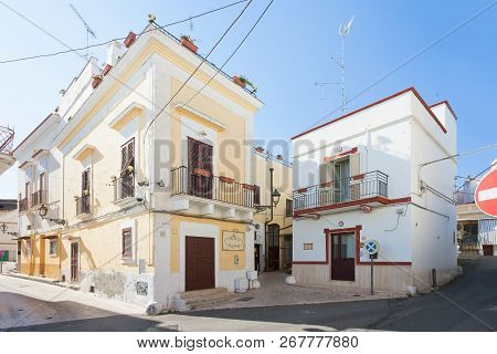 Massafra, Apulia, Italy - May 31, 2017 - A Traditional Building In The Streets Of Massafra