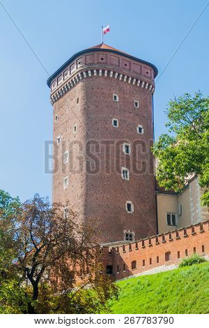One of towers at Wawel castle in Krakow, Poland poster