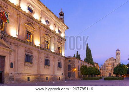 Palacio De Las Cadenas And Capilla Del Salvador Chapel, Ubeda, Andalusia, Spain