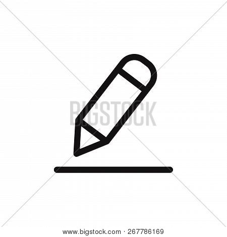 Edit Icon Isolated On White Background. Edit Icon In Trendy Design Style. Edit Vector Icon Modern An