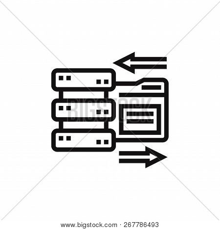 Data Storage Icon Isolated On White Background. Data Storage Icon In Trendy Design Style. Data Stora
