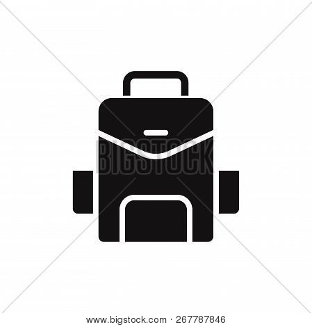 Backpack Icon Isolated On White Background. Backpack Icon In Trendy Design Style. Backpack Vector Ic
