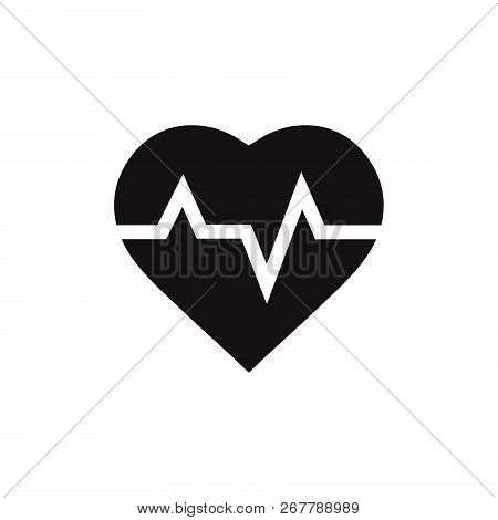 Heartbeat Icon Isolated On White Background. Heartbeat Icon In Trendy Design Style. Heartbeat Vector