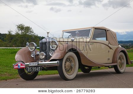 VOLKETSWIL - AUGUST 15: The Rolls Royce car on the annual