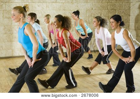 Group Of Woman At Fitness Club