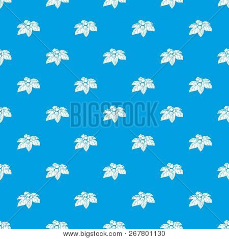 Whortleberries Pattern Vector Seamless Blue Repeat For Any Use