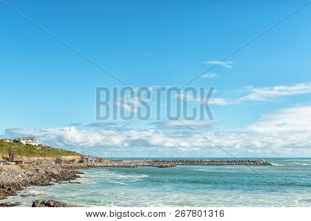Yzerfontein, South Africa, August 20, 2018: A Coastal Scene In Yzerfontein On The Atlantic Ocean Coa