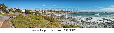 Yzerfontein, South Africa, August 20, 2018: A Panoramic Coastal Scene In Yzerfontein On The Atlantic