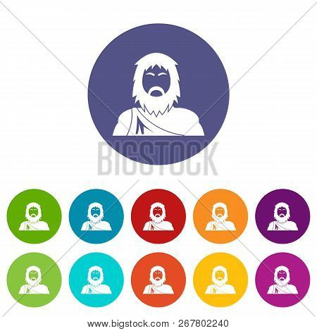 Neanderthal Icons Color Set Vector For Any Web Design On White Background