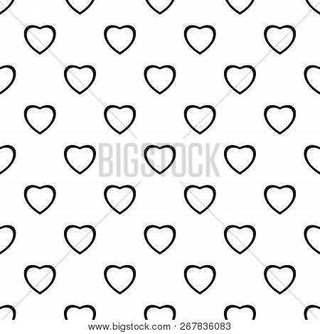 Fearless Heart Pattern Seamless Vector Repeat Geometric For Any Web Design