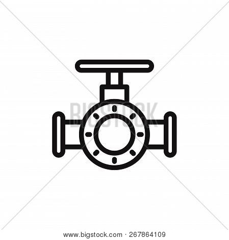 Valve Icon Isolated On White Background. Valve Icon In Trendy Design Style. Valve Vector Icon Modern