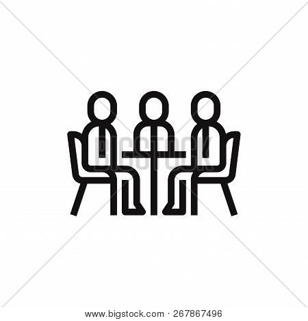 Meeting Icon Isolated On White Background. Meeting Icon In Trendy Design Style. Meeting Vector Icon