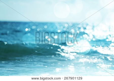 water of tropical sea, bokeh (out of focus)