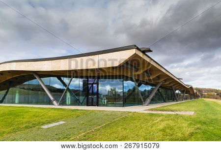 Craigellachie, Scotland - 4 November 2018: Macallan Distillery And Visitor Centre, In The Recently O