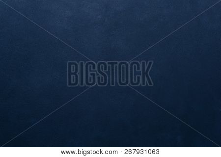 Abstract Grunge Dark Navy Blue Background. Rough Decorative Textured Pained Backdrop. Graphic Design