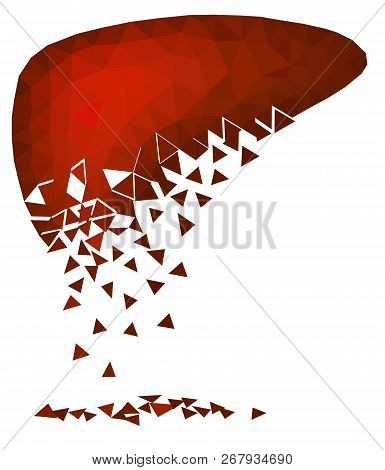Abstract Polygonal Vector Image Of A Sick, Decaying Liver.