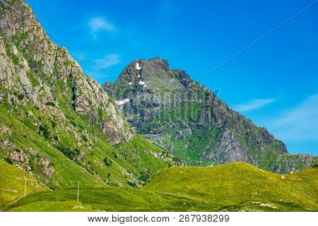 Mountains On The Lofoten Islands In Norway.
