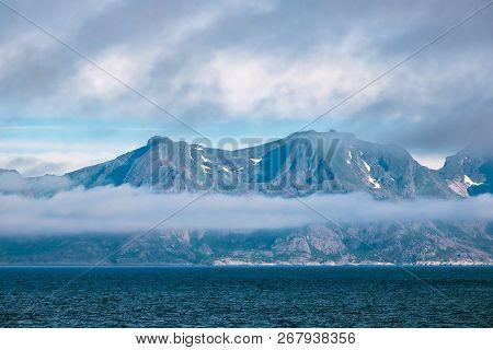 Coast On The Lofoten Islands In Norway.