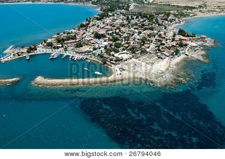 elevated view of old city from Antalya, Turkey