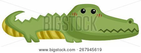 A Vector Of A Cute And Adorable Crocodile