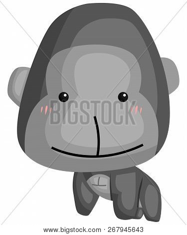 A Vector Of A Cute And Adorable Gorilla