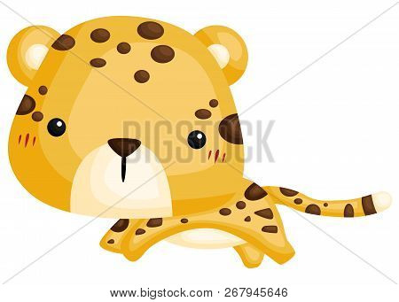 A Vector Of A Cute And Adorable Leopard