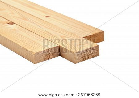 Wooden Board Isolated On White A Ackground