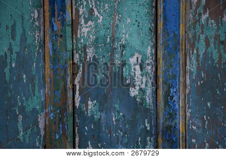 Peeling Blue Paint