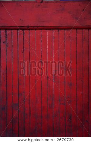 Old Red Paneling