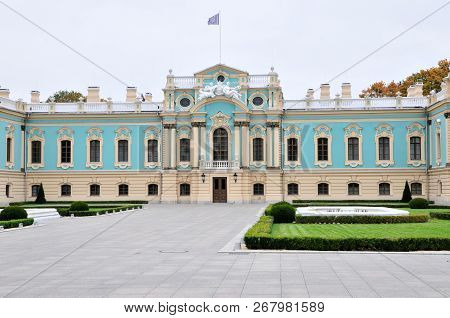 Kiev/ Ukraine - October 9, 2018: Mariyinsky Palace. It Is A Baroque Palace, Designed By Bartolomeo R