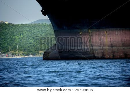 close up shot of a big ship