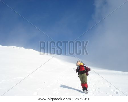 Climbing On The Snow