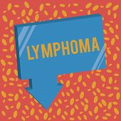 Writing note showing Lymphoma. Business photo showcasing Cancer that begins in infection fighting cells of the immune system poster