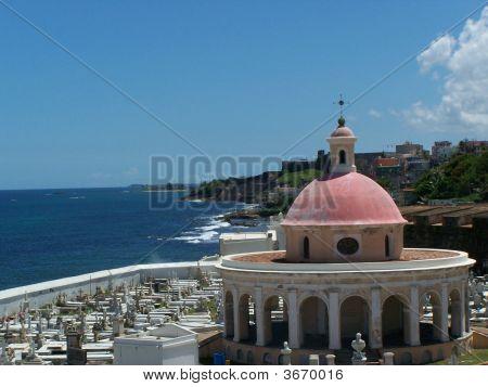 Cemetery Overlooking The Sea