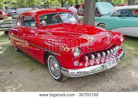 Cherry Red 1950 Merc