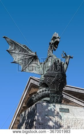 In European Bestiaries And Legends, A Basilisk Is A Legendary Reptile Reputed To Be A Serpent King,