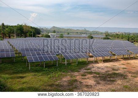 Solar Cells Panel Farm Alternative Energy Electricity Production Supply