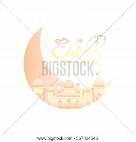 Happy Eid Al Fitr Greeting Card Design Template Vector Eps 10