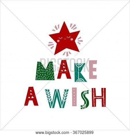Merry Xmas - Vector Hand Drawn Christmas Typography Poster Or Card With Inspirational Phrase. T-shir